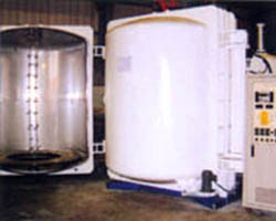 Thermal vacuum dual doors plastic evaporation coater
