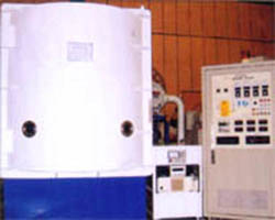 Electron beam/thermal vacuum evaporation coater